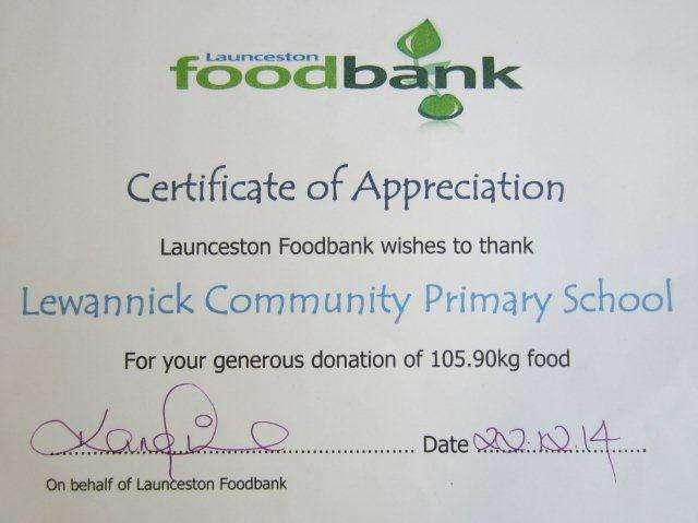 foodbank cert 2014